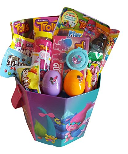Dreamworks Trolls Theme Activity Gift Basket Bundle Set