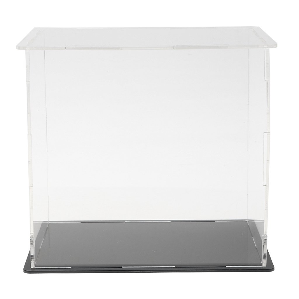 Acrylic Display Box Dustproof Clear Case with Black Base for Action Figure Model Ship//Plane//Truck Diecast Cars 20x12x15cm 4 Size to Choose Dolls