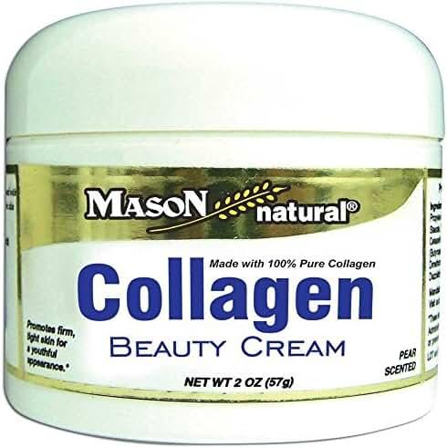 Mason Natural Vitamins Collagen Beauty Cream 100% Pure Collagen Pear Scent, 2 Fluid Ounce