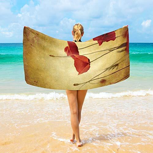 (DoubleCW Poppy Microfiber Beach Towel Large & Oversized 74