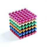 "Delightry 216 Pieces of 0.19"" Fun Magnetic Office Toy Play Ball Science Kits Multicolor"