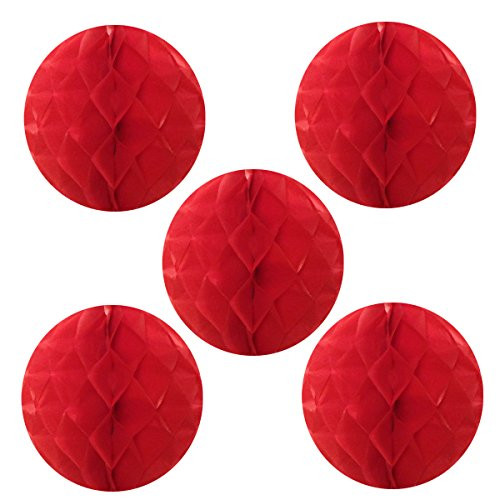 Wrapables Tissue Honeycomb Ball Party Decorations for Weddings, Birthday Parties, Baby Showers and Nursery Decor (Set of 5), 6