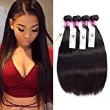8A Malaysian Virgin Hair Straight 4 Bundles Deals 20 22 24 26 Inches 100% Unprocessed Human Hair Bundles Weave 400g Natural Black Can be Dyed CHEEON For Sale