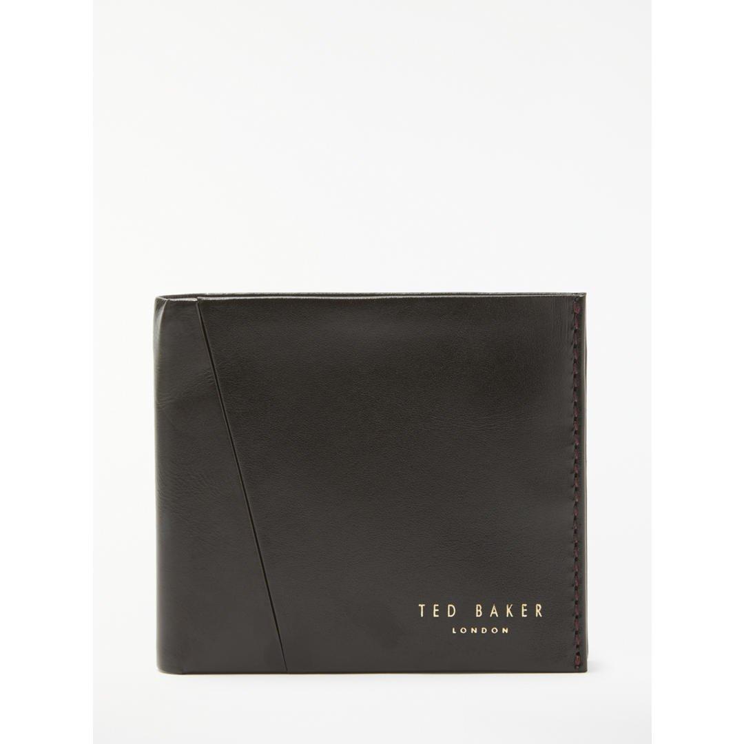 78efe918ad6876 Ted Baker Twixxle Black Leather Wallet and Card Holder Gift Set   Amazon.co.uk  Clothing