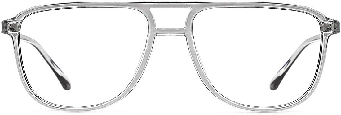 TIJN Retro Quadratische Blaulichtfilter Brillen Gl/äser f/ür Damen Herren Ohne sehst/ärke Computer Brillen Leichte Fassung