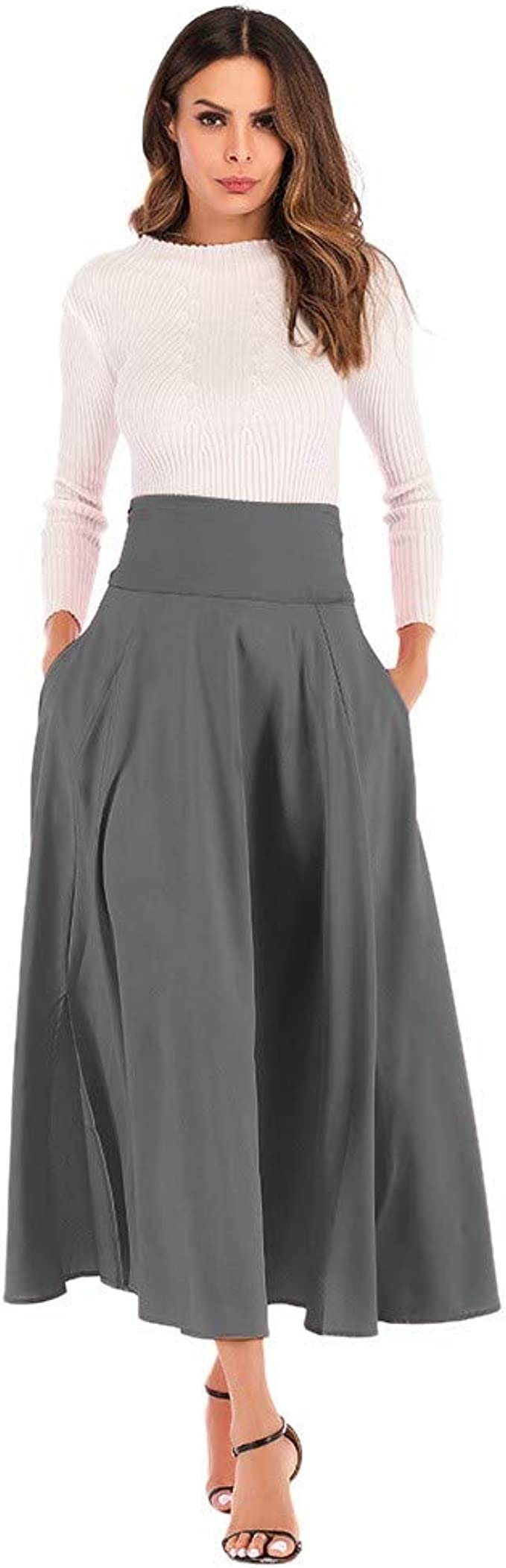 EUZeo_Robe Falda Larga para Mujer, Estilo Vintage, Elegante ...