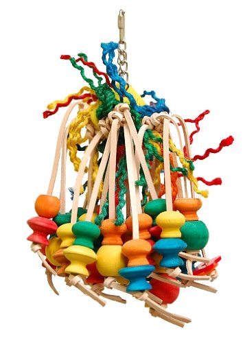 Zoo-Max Leather Spiddy Bird Toy, Extra Large