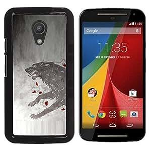 EJOY---Cubierta de la caja de protección la piel dura para el / Motorola G 2ND GEN II / --GOT Lobo