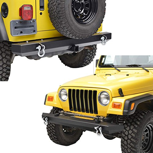 E-Autogrilles TJ or YJ Jeep Wrangler Off Road Front Bumper and Rear Bumper Combo