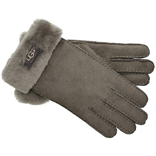 UGG Women's Classic Turn Cuff Glove Stormy Grey LG by UGG