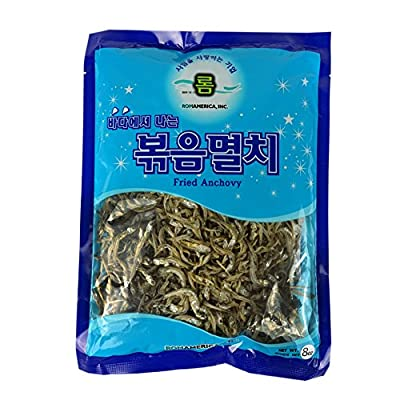 ROM AMERICA Korean Middle Size Dried Anchovies 8 oz ( 226g ) Anchovy for Soup Stock , ????