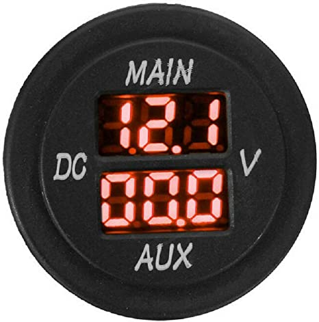 DC12-24V//0.1-10A Dual LED Digital Multimeter Ammeter Voltage Meter For Car Truck