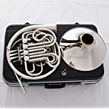 FidgetGear Professional Double French Horn Silver Nickel Plated F/Bb 4 Keys New Case