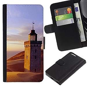 All Phone Most Case / Oferta Especial Cáscara Funda de cuero Monedero Cubierta de proteccion Caso / Wallet Case for Apple Iphone 6 PLUS 5.5 // Nature Lighthouse Beach