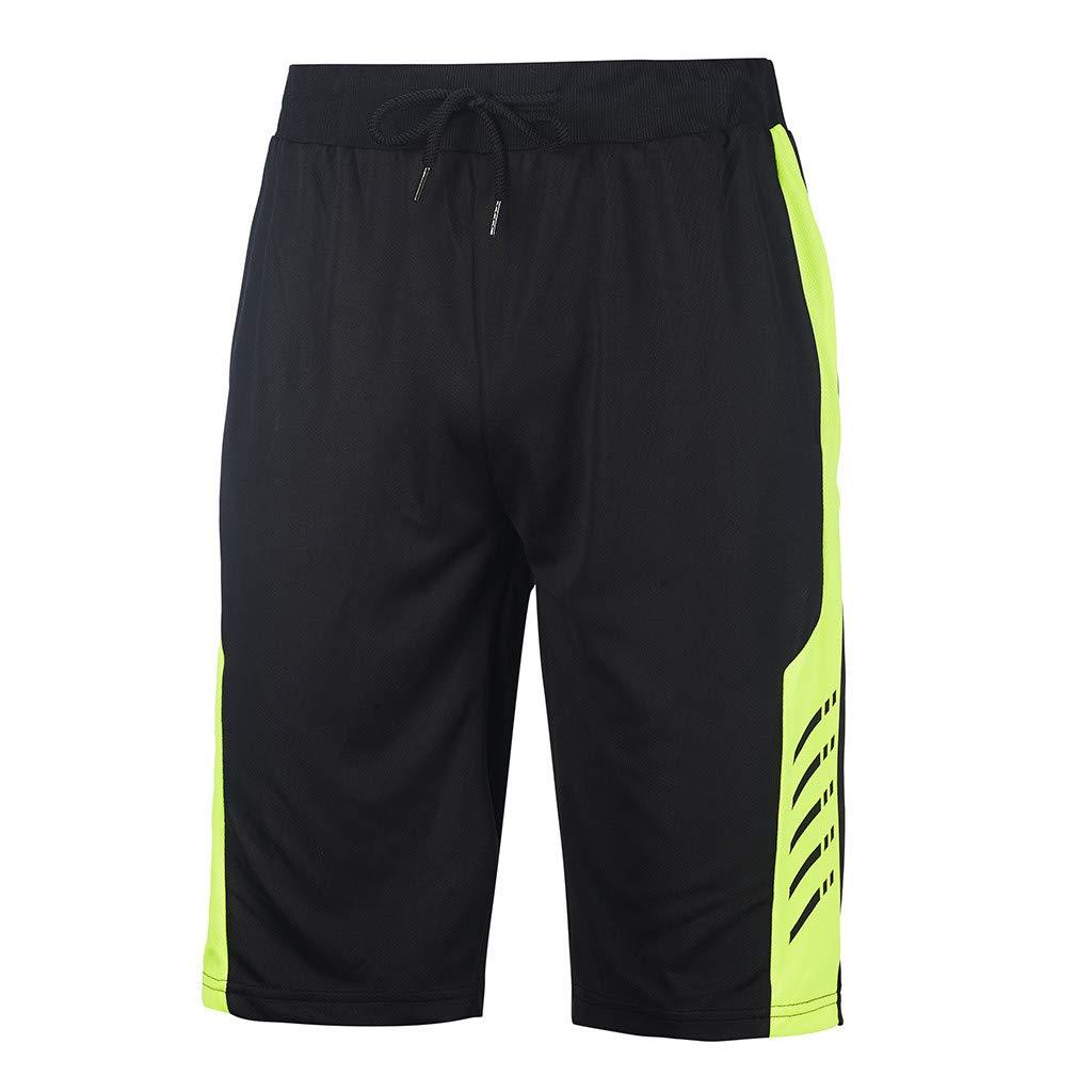 NUWFOR Men's Swimwear Running Surfing Sports Plus Size Beach Shorts Trunks Board Pants M Waist:27.6''