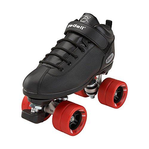 Riedell Skates - Dart - Quad Roller Speed Skates | Black | Size 5