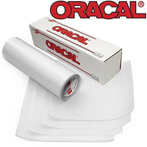 Vinyl Transfer Paper - Oracal Clear Transfer Tape Roll 12 Inch x 6 Feet