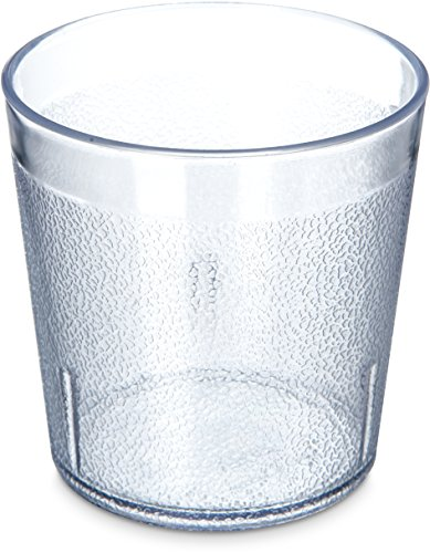 Carlisle 5529-8107 BPA Free Plastic Stackable Tumbler, 9 oz., Clear (Pack of 6) (Pebbled Stackable Plastic Tumbler)