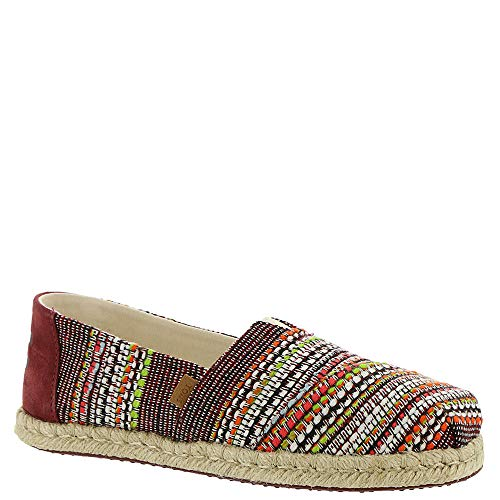 TOMS Women's Alpargata on Rope Cherry Tomato Global Woven 10 B US