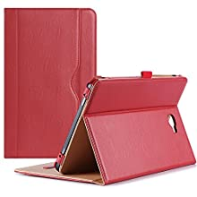 """ProCase Galaxy Tab A 10.1 Case 2016 Old Model, Stand Folio Case Cover for Galaxy Tab A 10.1"""" Tablet SM-T580 T585 T587 (NO S Pen Version) with Multiple Viewing Angles, Card Pocket -Red"""
