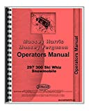 Massey Ferguson 297 300 Ski Whiz Snowmobile Owner Operators Manual