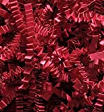 Arts & Crafts : 1/2 LB Crinkle Cut Paper Shred - Red