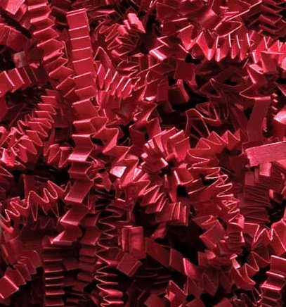 Crinkle Cut Paper Shred - Red