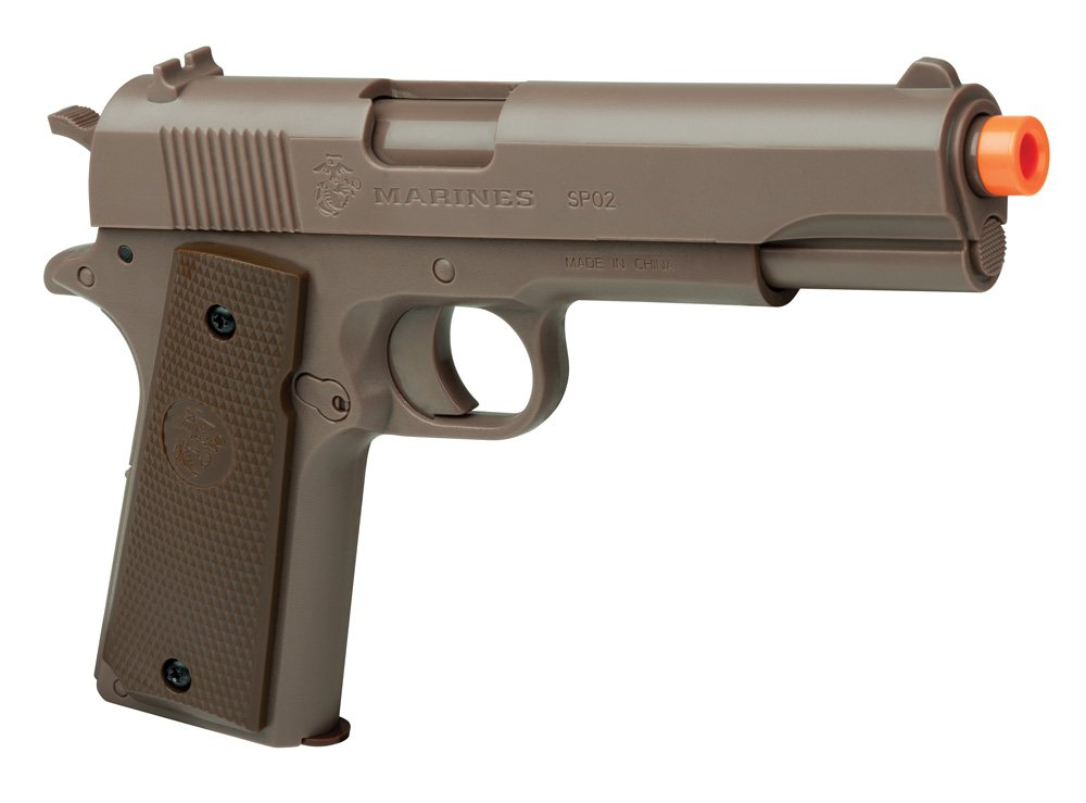 U.S. Marines MCSP02 Corps SP02 Spring Powered Single Shot Airsoft Pistol