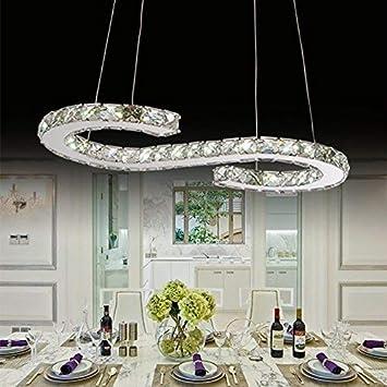 AME las lámparas de Cristal Modernas lujosas Que encienden ...