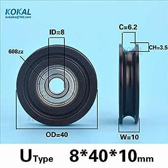 10pcs Nylon Roller Wheel Plastic Bearings 6*19*6mm Guide Pulley Flat Belt Idler