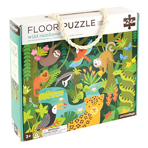 - Petit Collage Floor Puzzle, Wild Rainforest, 24 Pieces