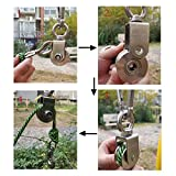 Heyous 1-Pack V Type Swivel Pulley 304 Stainless