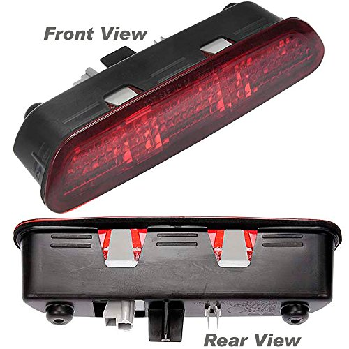 APDTY 034353 3rd Third High Center Mount Brake Light Lamp Assembly w/Upgraded LED Design For 2004-2008 Chevy Malibu 4-Door Sedan (Replaces GM 10377138) Chevy 4 Door Sedan