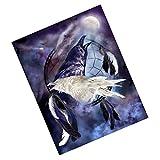 MagiDeal 5D Faux Diamond Painting Animal Crow 1 Cross Stitch DIY Craft Xmas Gift
