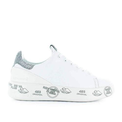 3b1d0e4948 PREMIATA Sneakers Donna Belle3014 Pelle Bianco: Amazon.it: Scarpe e ...