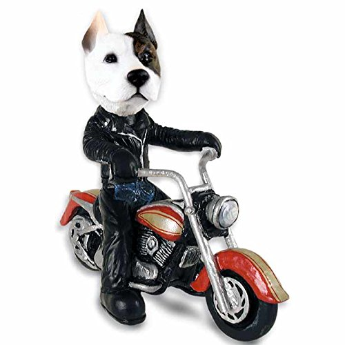 (Pit Bull Terrier Motorcycle Doogie Collectable Figurine)