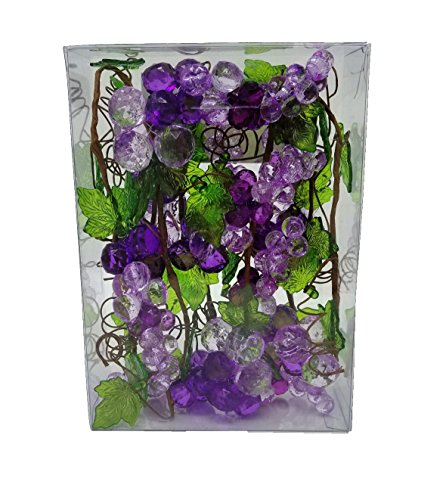 Findlavender - Acrylic Grape Garlands - Purple - 4ft (Grape Decor)