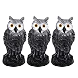 Fasmov Garden Protection Repellent Bird Scarer Scarecrow Owl Decoy Pest Repellent Pest Repellent Garden Protectors, Pack of 3