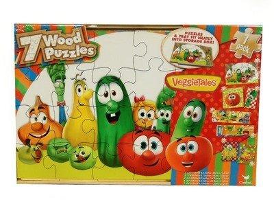 Puzzle Veggie Tales Wood 7 Pak by Cardinal Industries Inc. ()