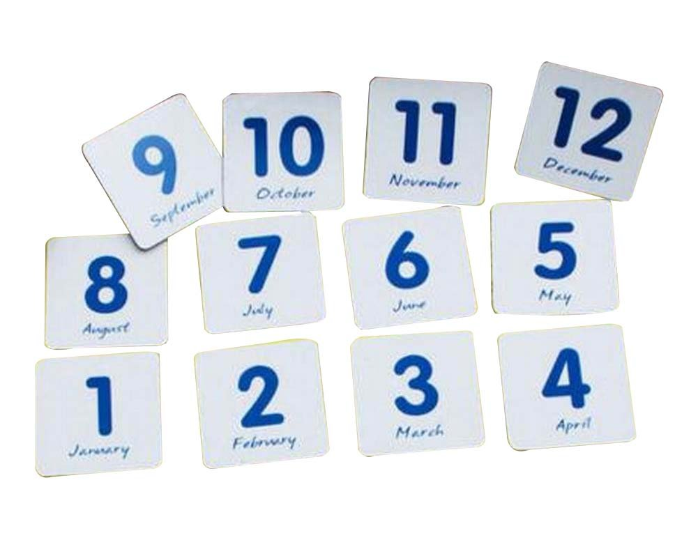 2 Sets of Office Whiteboard Magnets Fridge Magnets Educational Toy, Month