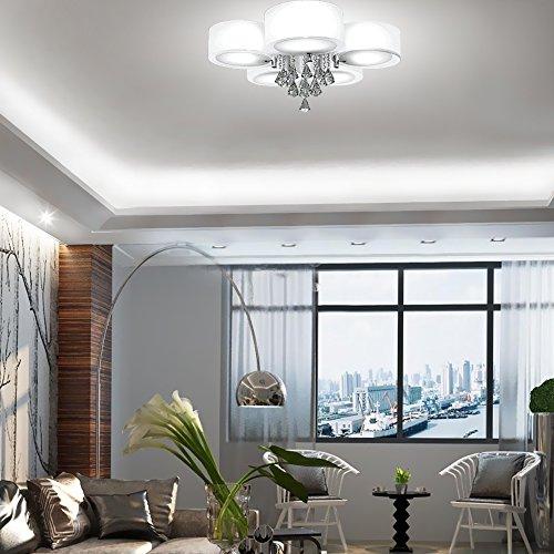 Sungle® LED moderne lustre en cristal acrylique plafonnier luminaire ...