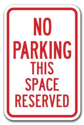 Cartel de aluminio no hay este espacio reservado de ...