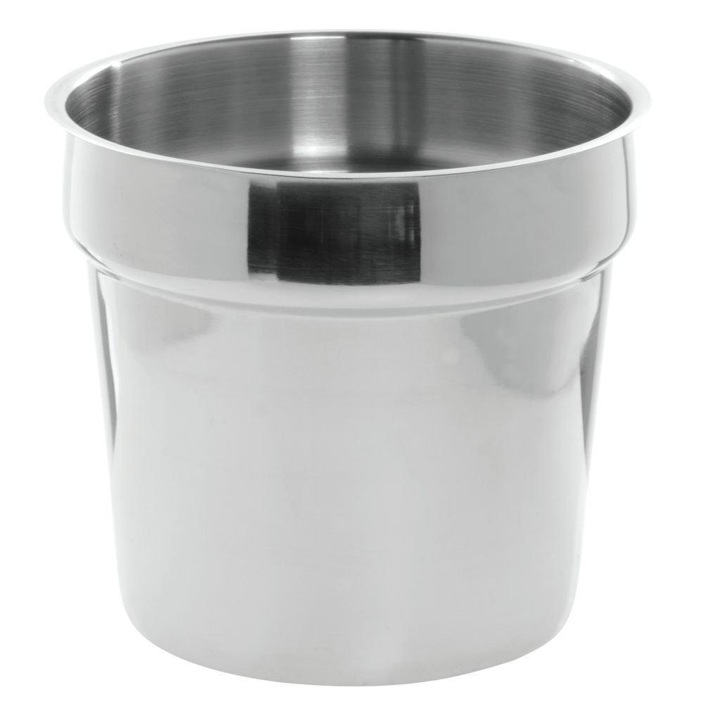 HUBERT Bain Marie Inset Pan 4 Quart - 7 1/2 Dia x 8 1/4 H
