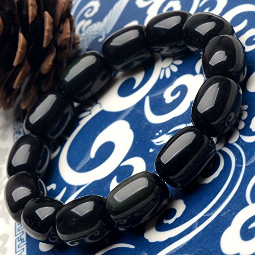 Master Obsidian Bracelet Natural rainbow eye candy style
