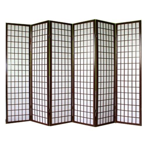 PEGANE Paravento Giapponese Shoji In Legno Nero Di 6 Pannelli: Amazon.it:  Casa E Cucina