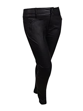 c1982c8f3447d City Chic Women's Plus Size Wet Look Moto Stretch Skinny Jeans at Amazon  Women's Clothing store: