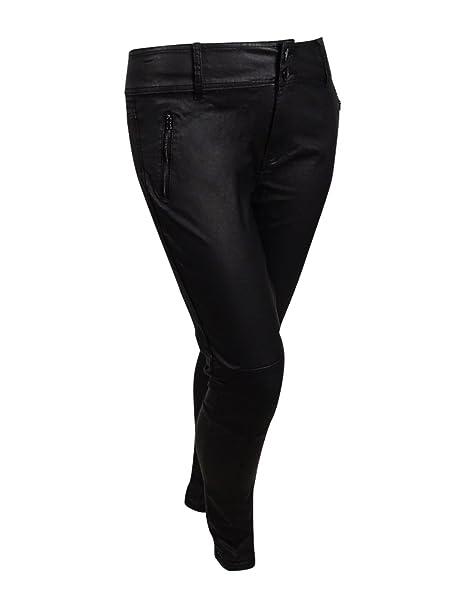 Amazon.com: City Chic Mujer Plus Size aspecto mojado moto ...