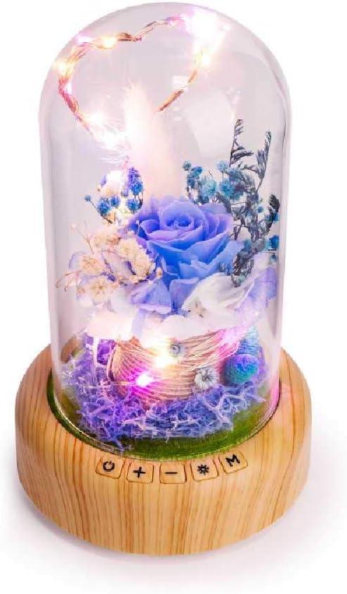 FENGZE Nightlight Eternal Flower Blue Fairy Nightlight 0.3w/ Fata blu Fata Blu