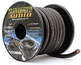 SA-1/0-OFC Black - Sundown Audio 50 Feet Power Cable Copper Wire (Spool)