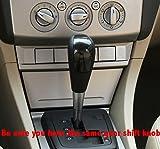 JI Loncky Black Genuine Leather Gear Shift Knob